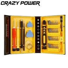CRAZY POWER Multipurpose 38 in 1 Precision Screwdrivers Kit Opening Repair Phone Tools Set for iPhone