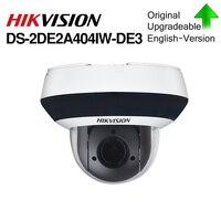 の Hikvision オリジナル PTZ IP カメラ DS-2DE2A404IW-DE3 4MP 4X 2.8-12 ミリメートルズームネットワーク POE H.265 IK10 ROI WDR DNR ドーム CCTV PTZ カメラ