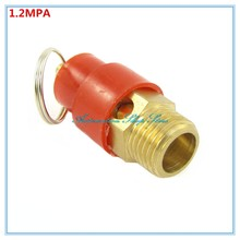 "Red Cap 1/4"" BSP Pneumatic Compressor Fitting 1.2MPA Male Thread Pressure Relief Valve 12KG(China)"