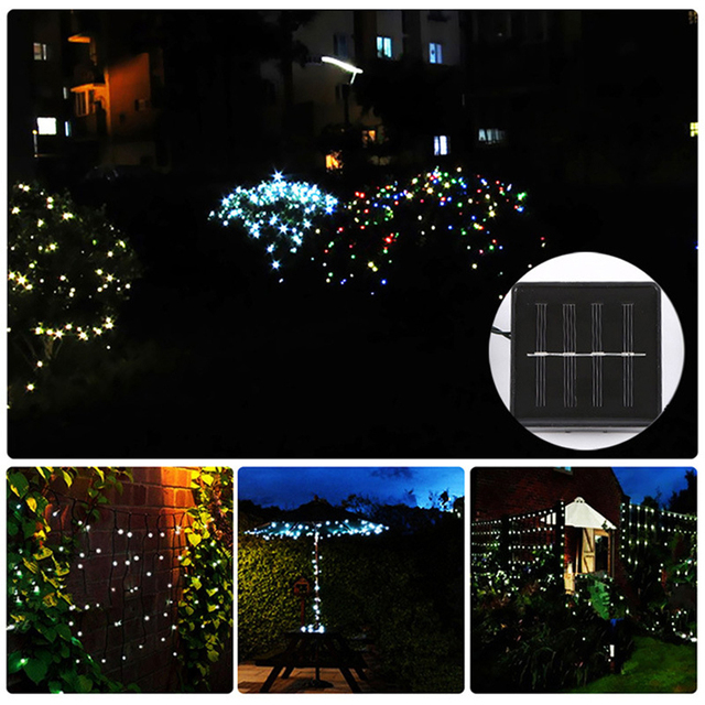 wholesale 22m 200 lamp beads solar lanterns wedding christmas light string led light string outside decorative