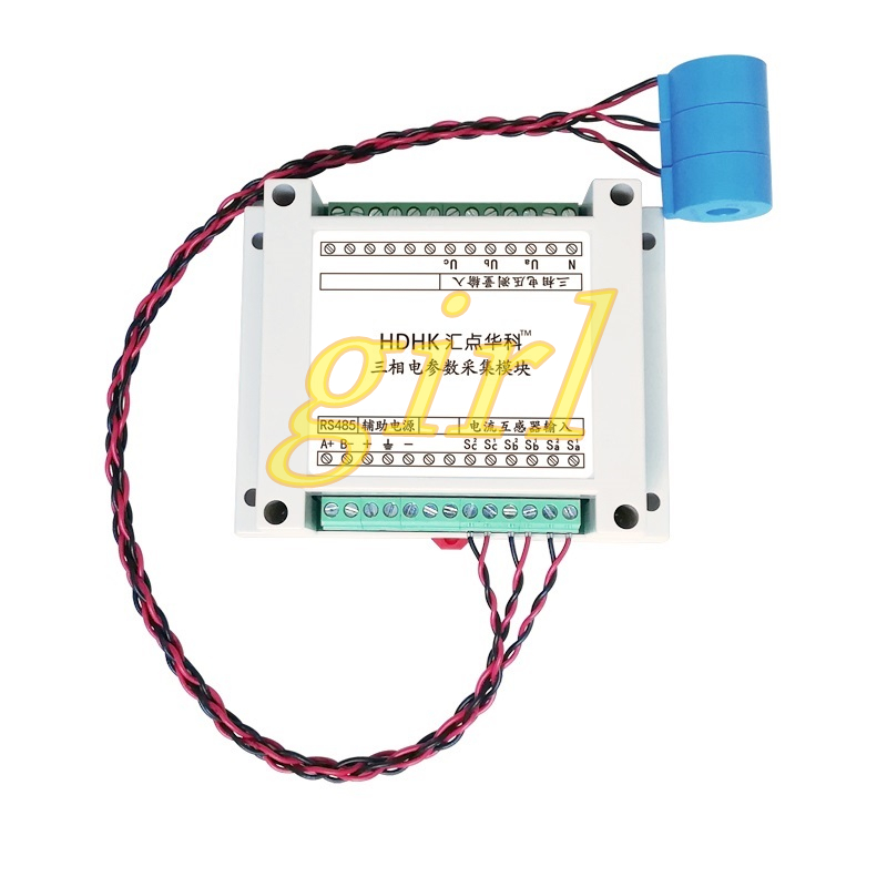 Three Phase AC Voltage And Current Power Acquisition Module MODBUS-RTU Protocol 485 Electrical Parameters Measurement
