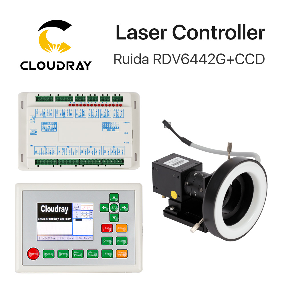 Cloudray Ruida RDV6442G CCD Visual Co2 Laser Controller System For Laser Cutter Engraver Machine