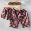 Verano de las mujeres y los pantalones de pijama de hombre rejilla lovers home mujeres pantalones cortos ropa de dormir de algodón pantalones cortos