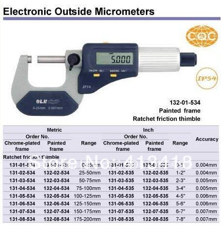 Two buttons  high quality goods high quality waterproof electronic outside micrometer132-01-534. 0-1inch. mcd200 16io1 [west] quality goods