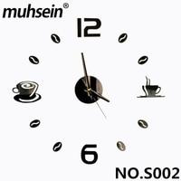 2017 muhsein קישוט הבית הטוב ביותר 3D מדבקות אקריליק מספר שעון קיר ייחודי DIY דבק עצמי בית תפאורה מודרני שעוני קיר