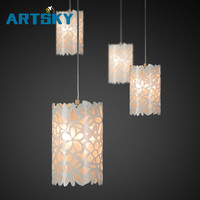 Acrylic Hollow Carved Single Head Three Chandeliers Modern LED Living Room Chandeliers Lighting