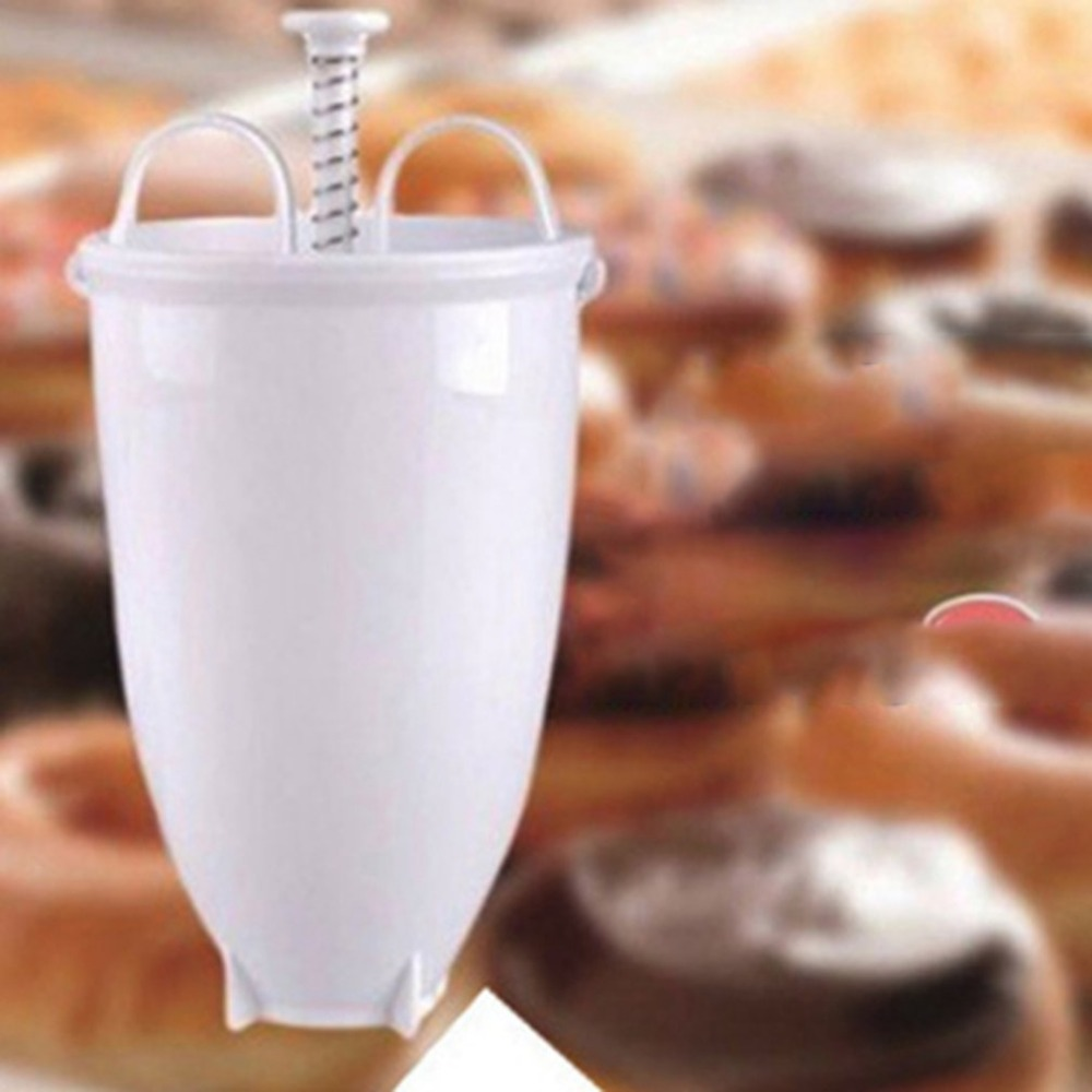 Пластиковая ручная машина для пончиков фритюрница форма для пончиков пластиковая легкая вафельница для пончиков