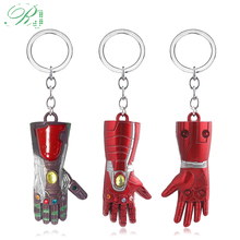 RJ Avengers Iron Man Glove Metal Keychains Thanos Infinite Power Gauntlet Keyrings For Men Film Fans 2019 New Collection Jewelry
