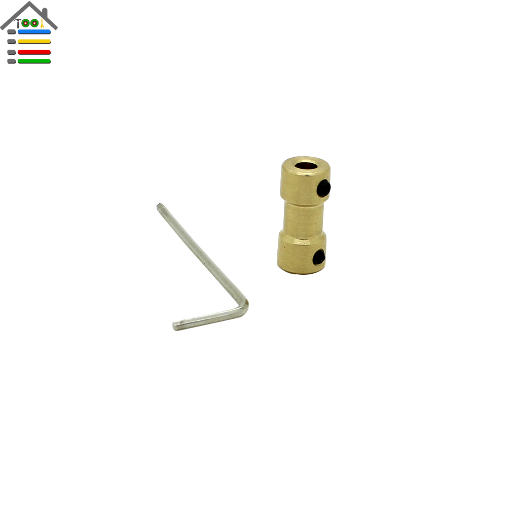 1pc Motor Shaft Coupling Copper Coupler 5mm to 3.17mm Connector Gear Transmission Toy RC Airplane Joint Parts Model Hobby Tool  цены