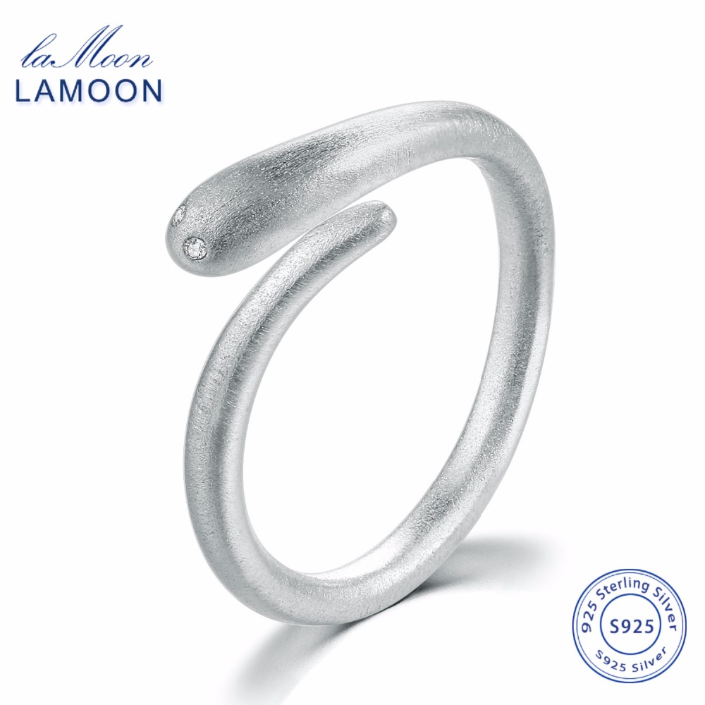 Wiredrawing Snake 100% 925-Sterling-Silver Rings Open Design S925 Fine Jewelry For Women Cocktail Party LMRY050