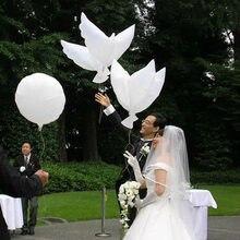 Balões de pomba brancos para decoração de festa de casamento, balões de hélio para decoração de noiva e noivo