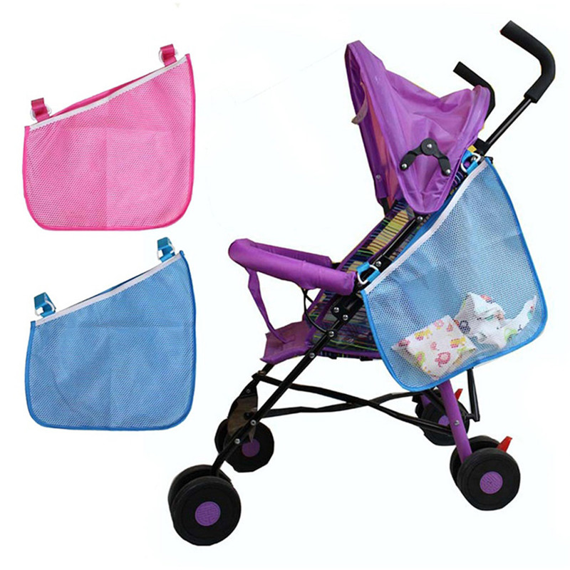 Pink Baby Stroller Side Hanging Bag Stroller Organizer Bag Car Seat Side Organizer Hanging Basket Umbrella Side Bag