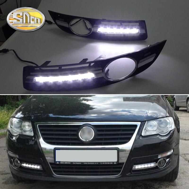 2PCS LED Daytime Running Light For Volkswagen Passat B6 2007 2008 2009 Waterproof ABS Cover 12V