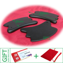 Free shipping! Wholesale & Retail Traditional Acupuncture Massage Tool Guasha Board  Natural Black Bian-stone Good quality! цена 2017