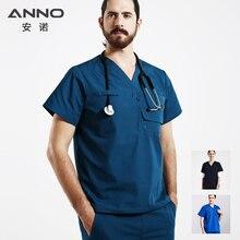 ANNO Medical Dental Scrubs for Woman&Man Short sleeve Medical Clothes Nurse Uniform designs Hospital Set Surgery Suit