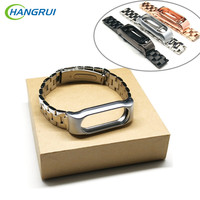 HANGRUI Mi Band 2 Metal Strap For Xiaomi Mi Band 2 Smart Bracelet Strap Replacement For