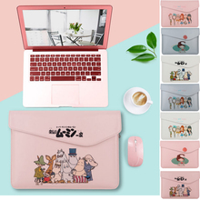 Thin Pu Leather Laptop Sleeve for Notebook MacBook Air Pro 13 Touch bar Bag Case Cover Mac 13.3 inch