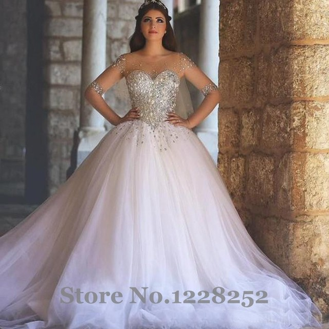2017 Long Sleeve Wedding Dresses Said Mhamad vestidos de noiva Ball ...