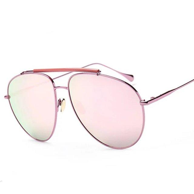 81f3ad302 كلاسيكي إمرأة نظارات ماركة مصمم أزياء الرجال مزدوجة الجسور مرآة عدسة طلاء نظارات  الشمس الظل uv400