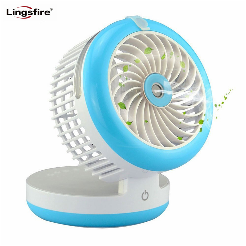 Mini Foldable Humidifier Fan Portable Air Conditione Spray Fans USB Rechargeable Desktop Cooling Misting Fan Beauty Humidifier