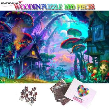MOMEMO Strange Alien World Wooden Puzzle 5075cm 1000 Pieces Jigsaw Puzzle Cartoon Plane Puzzles Toys Adults Kids Teens Puzzle