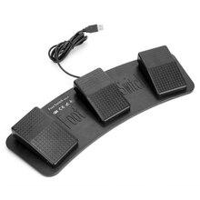 Fs3 P Usb Triple Pedale Interruttore A Pedale di Controllo Della Tastiera Del Mouse 3 Pedali Simulare Qualsiasi Tasto Sulla Tastiera Combinazione di Tasti Hid Usb interruttore