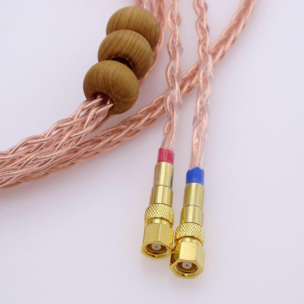 3 m 1/4 6.35mm pour Hifiman He-5 He-6 He-400 He-500 He560 bricolage HIFI haut de gamme 8 cœurs 5n Pcocc câble de mise à niveau casque en cuivre