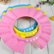 wholesales 20pcs lot Adjustable Shower caps protect Shampoo for baby health Bathing waterproof kid children Wash