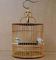Bamboo bird cages home garden decoration hobby gift bird supplies pet accessories
