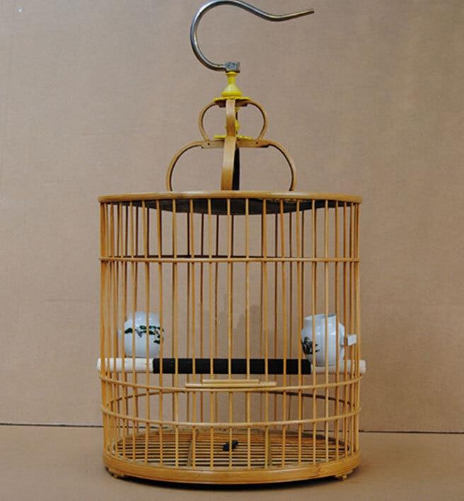 Bamboo Bird Cages Home Garden Decoration Hobby Gift Bird Supplies Pet Accessories In Bird Cages