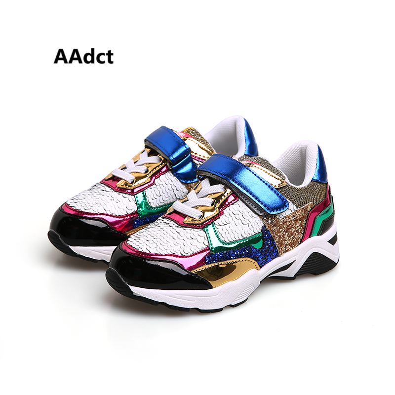 AAdct Fashion children shoes 2017 Autumn new sports running breathing girls shoes sneakers
