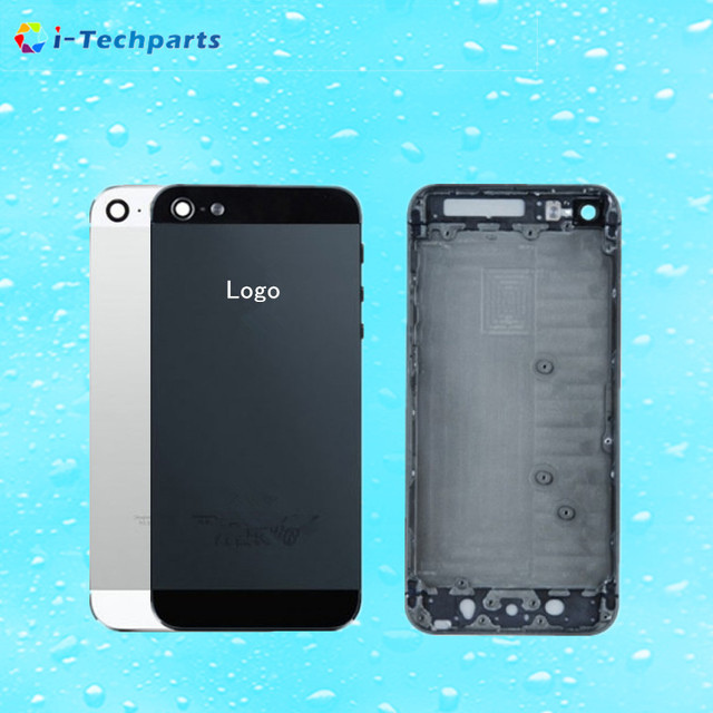 10pcs Original For iPhone 5 Full Housing Back Battery Door Cover Middle Frame Metal Back Housing Replacement with Logo