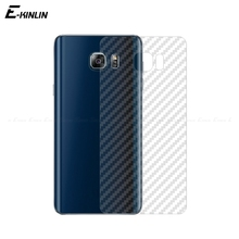 Carbon Fiber Protective Back Film For Samsung Galaxy S5 S6 S7 Edge S9 S8 S10e Plus Note 8 5 Rear Screen Protector Not Glass