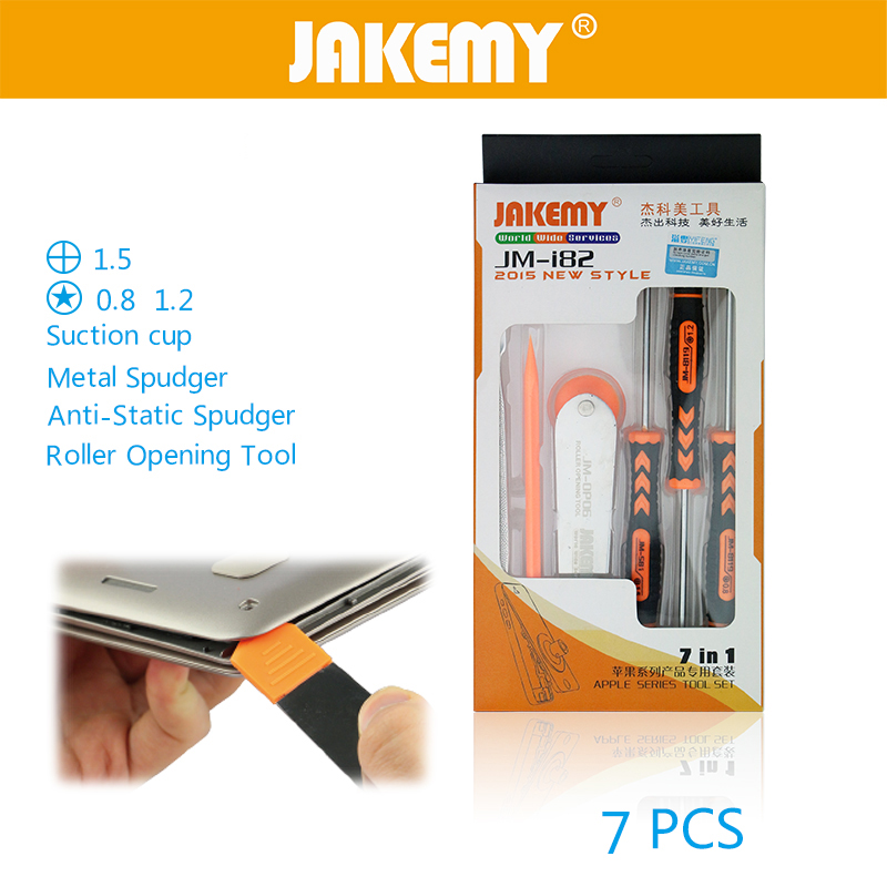 JAKEMY 7 in 1 Screwdriver Set with Disassembling Repair Opening Tools Kit Repair Mobile Phone for iphone 6s Plus 5s ipad Samsung