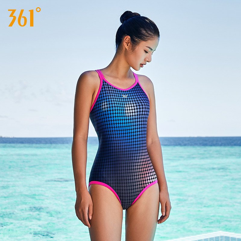361 One-Piece Suits Women Swimsuit 2018 Sports Swimming Suit for Women M-2XL Girl Bathing Suit Backless Swimwear Female Swimwear