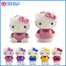 USB3.0, HelloKitty Usb Flash Drive 64 ГБ Pen drive 32 ГБ Pendrives 4 ГБ 8 ГБ 16 ГБ супер скорость U Диск Флэш-Карты USB 3.0 Memory stick