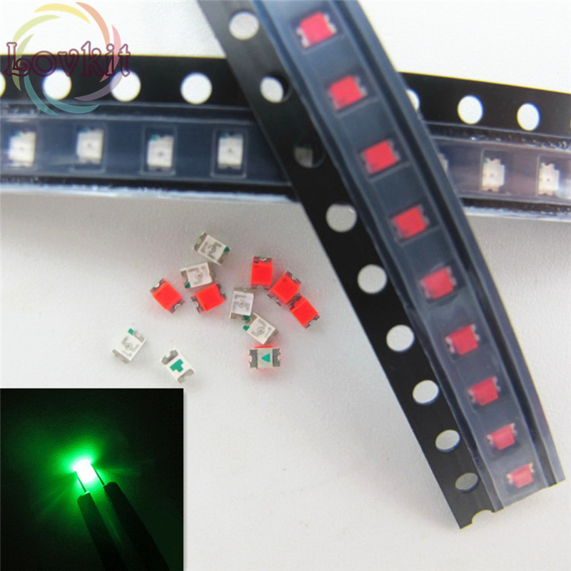 100 Pcs 5050 Rgb Smd Led Red Blue Green Smt Led Plcc-6 3-chips Light Emitting Diodes Lamp Bead For Car Boat Bike Diy