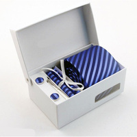 Nuovo stile Tie set 6 pz/set cravatte di Seta da Uomo Cravatte moda cravatta set Plaid Della Banda Mans Tie Cravatte con confezione regalo SPEDIZIONE