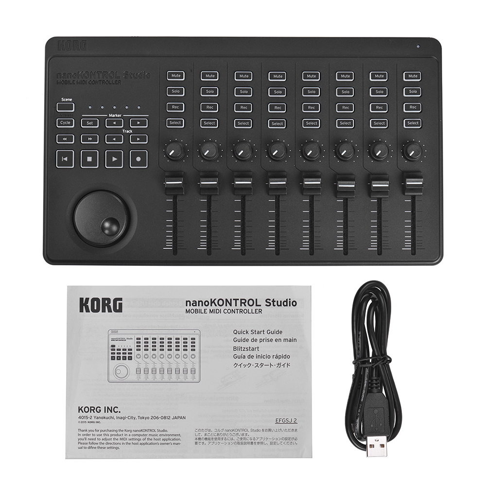 professional korg nanokontrol studio portable midi controller supports wireless bt wired usb. Black Bedroom Furniture Sets. Home Design Ideas