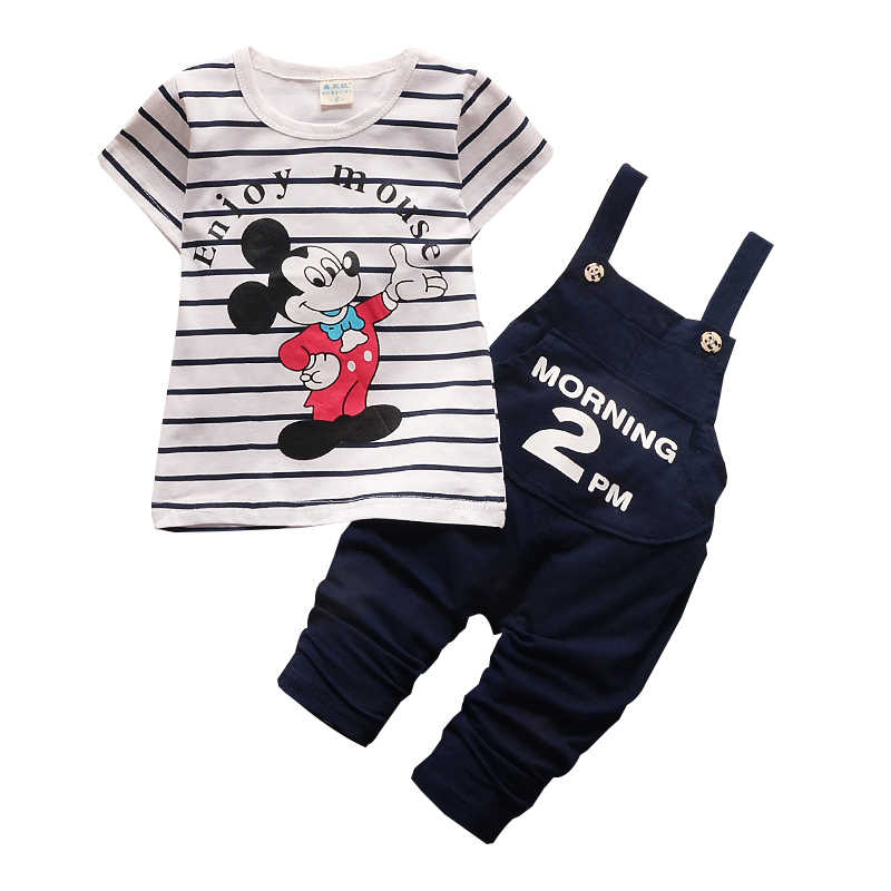 b1d67b38b Summer Baby Clothes Set Mickey Minnie Mouse Baby Girls Mickey Costume  Cotton Short Sleeve T-