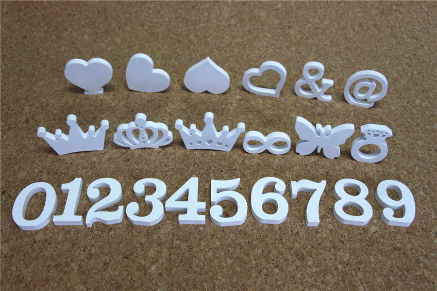 Creative Free Standing Wood Wooden 10cm White Letters Alphabet Word for Birthday Party Home Wedding Decoration gifts in Figurines Miniatures from Home Garden