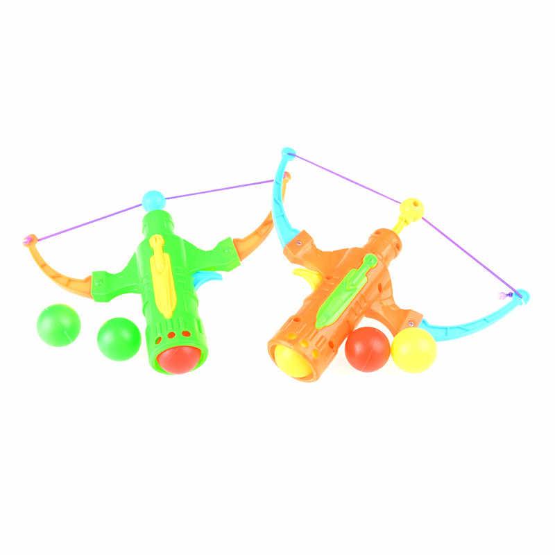 1 세트 플라스틱 공 플라잉 디스크 슈팅 장난감 탁구 야외 스포츠 어린이 선물 slingshot 사냥 소년 장난감