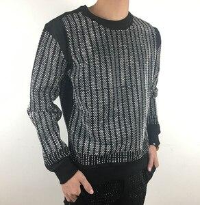 Image 5 - Pullover Oversized Men Autumn Winter 2019 Sweatshirt  Hip hop diamond design  HJ98