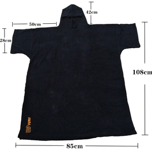 Image 2 - 2020 News surf poncho Wetsuit Changing Robe Poncho towel With Hood for Swim, Beach sports,100% cotton oversize adult