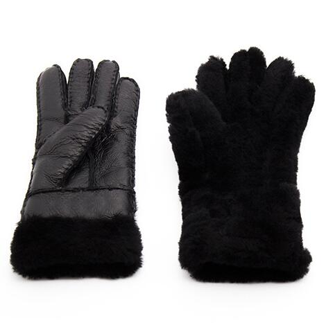 New Autumn Winter Women 39 s Warm Leather Gloves Real Sheepskin Fur Mittens Super Warm Hand made Gloves Ladies Wool Mitts Guantes in Women 39 s Gloves from Apparel Accessories