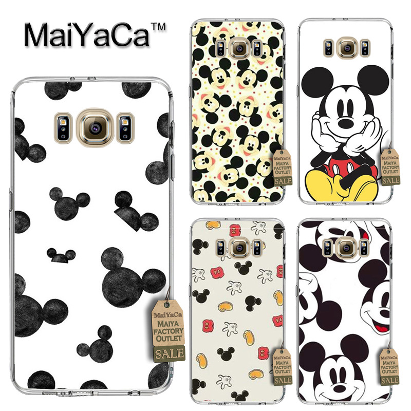 MaiYaCa Mickey mouse Luxury Fashion Phone Case for Samsung S3 S4 S5 S6 S6edge S6plus S7 S7edge S8 S8plus