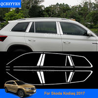 10PCS/SET Car Styling Stainless Steel Full Window Trim Decoration Strips For Skoda Kodiaq 2016-2017 Car sticker Auto Accessories
