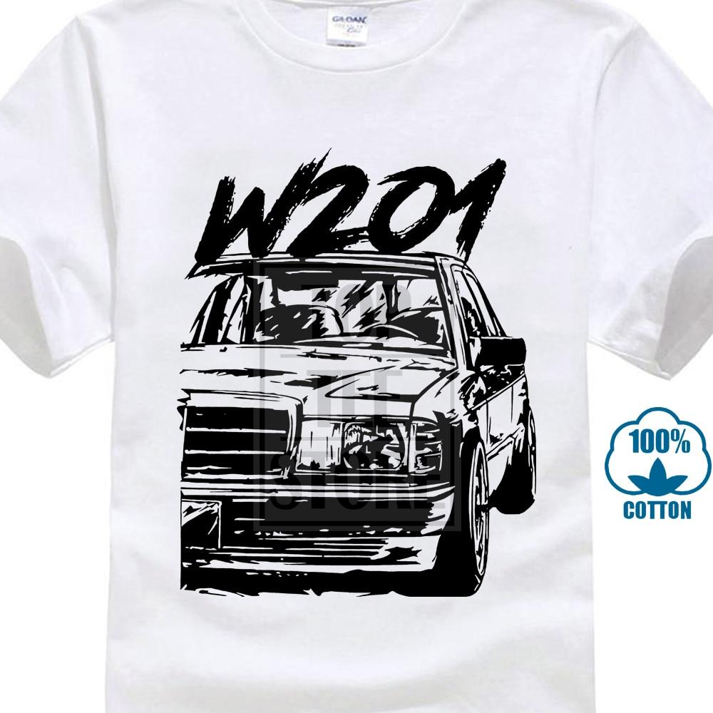 Anime Mercedes W201 190E Casual New Arrival Tee Shirt Man Fashion Crewneck T Shirt Fashionable 100% Cotton
