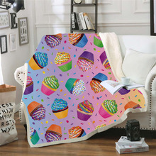 Plstar Cosmos Lisa and Frank Cartoon Blanket 3D print Sherpa on Bed Kids Girl Flower Home Textiles Dreamlike style-8