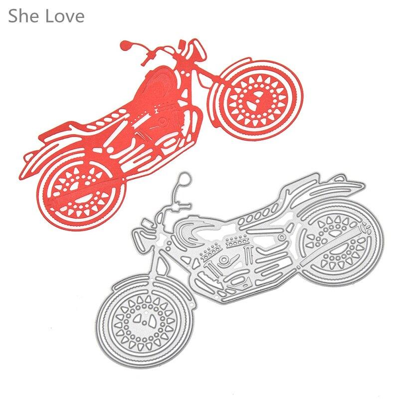 Sie Liebe Motorrad Metall Stanzformen Schablonen DIY Scrapbooking ...